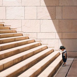 Child and Stairs